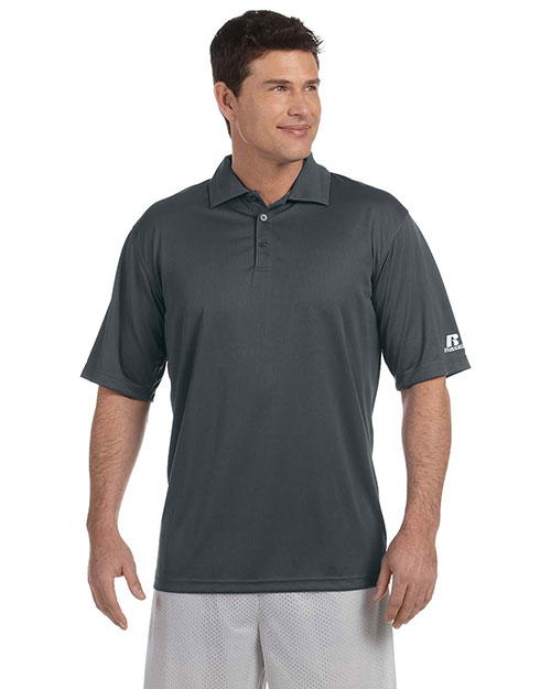 Russell Athletic 833GHM Men Team Essential Polo Stealth at GotApparel