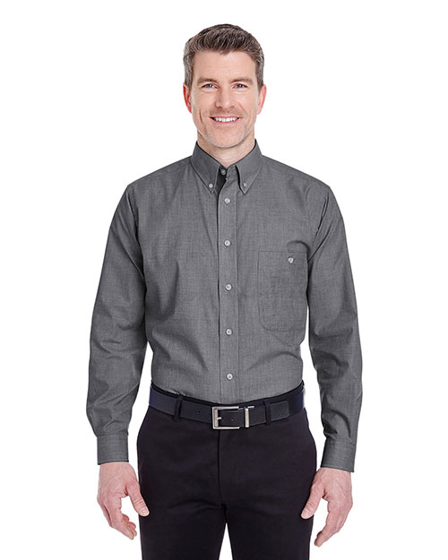 UltraClub 8340 Men WrinkleFree EndonEnd Black at GotApparel