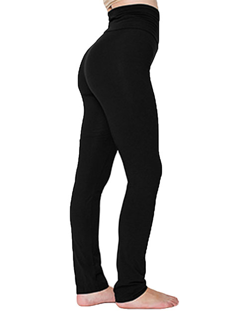 Custom Embroidered American Apparel 8375W Women Cotton/Spandex Yoga Pant at GotApparel
