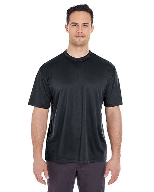 UltraClub 8400 Men Cool & Dry Sport Tee Black at GotApparel