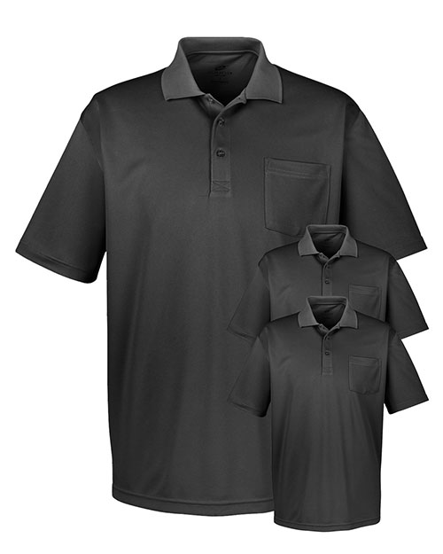Ultraclub 8405P Men Cool & Dry Sport Polo With Pocket 3-Pack at GotApparel