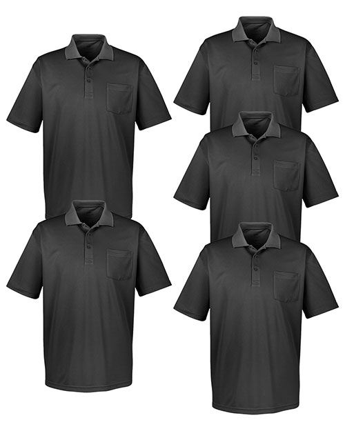 Ultraclub 8405P Men Cool & Dry Sport Polo With Pocket 5-Pack at GotApparel