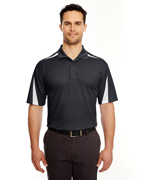 UltraClub 8408 Men Cool & Dry Sport Polo Black/ White at GotApparel