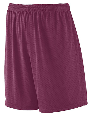 Augusta 842 Men Mesh Short With Tricot Lining Maroon at GotApparel