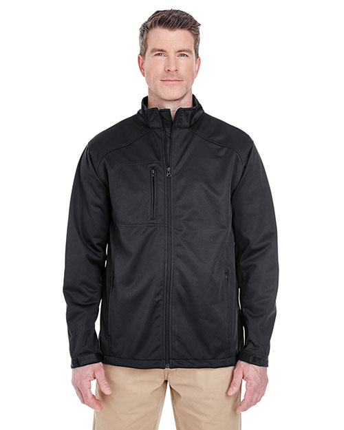 UltraClub 8477 Men Solid Soft Shell Jacket Black at GotApparel