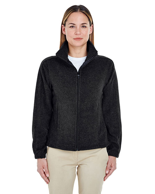 UltraClub 8481 Women Iceberg Fleece FullZip Jacket Black at GotApparel