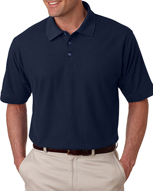 UltraClub 8540T  Mens Tall Whisper Pique Polo Navy at GotApparel