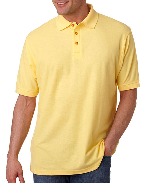 UltraClub 8540 Men Whisper Pique Polo Apple at GotApparel