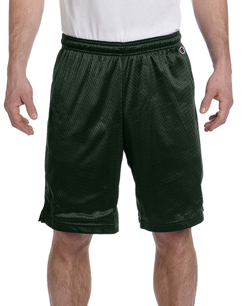Champion 8731 Men 3.7 oz. Mesh Short Athletic Dark Green at GotApparel