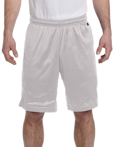 Champion 8731 Polyester Mesh Shorts Athletic Gray at GotApparel