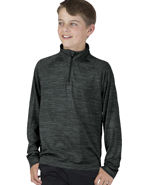 Charles River Apparel 8763 Boys Youth Space Dye Performance Pullover at GotApparel