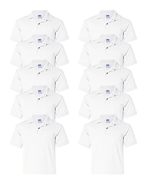 Gildan G880B Boys Dryblend 5.6 Oz. 50/50 Jersey Polo 10-Pack at GotApparel