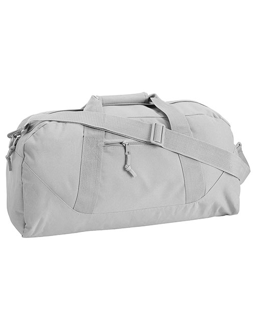 UltraClub 8806 Unisex Large Square Duffel Bag Grey at GotApparel