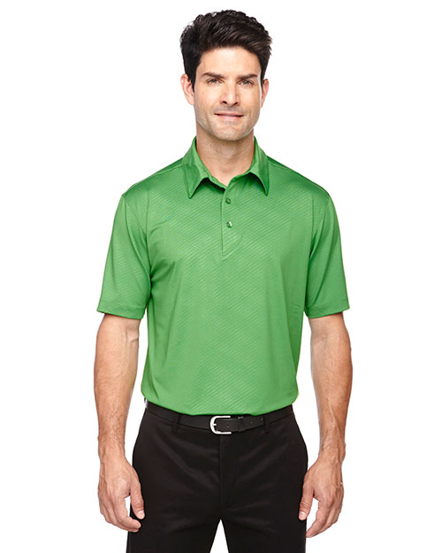North End 88659 Men Maze Performance Stretch Embossed Print Polo at GotApparel