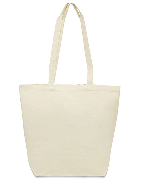 UltraClub 8866  Unisex Jumbo Tote with Gusset Natural at GotApparel