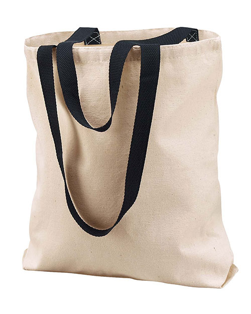 Liberty Bags 8868 Marianne Cotton Canvas Tote Natural/Black at GotApparel