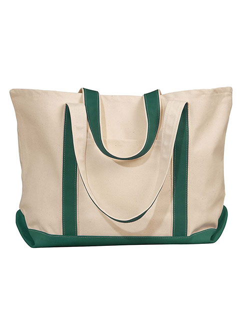 Liberty Bags 8872 Carmel Canvas Tote Natural/Forest at GotApparel