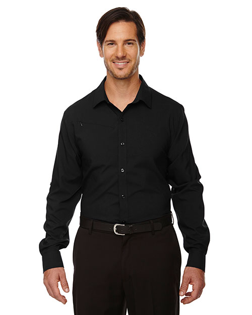 North End 88804 Men Rejuvenate Performance Shirt with RollUp Sleeves at GotApparel