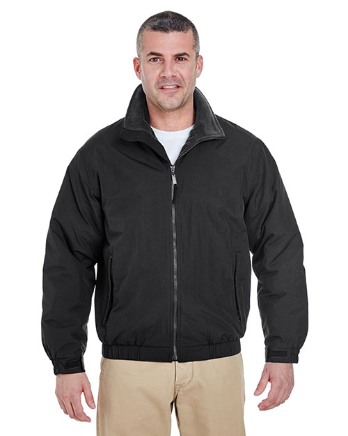 UltraClub 8921 Men Adventure AllWeather Jacket Black/ Black at GotApparel