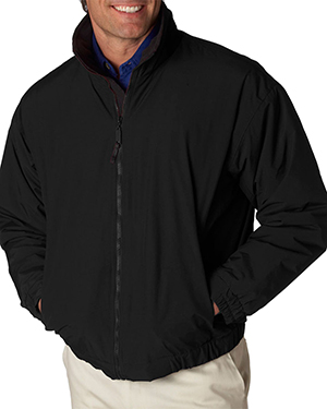 UltraClub 8921  Mens Adventure All-Weather Jacket Black/ Black at GotApparel