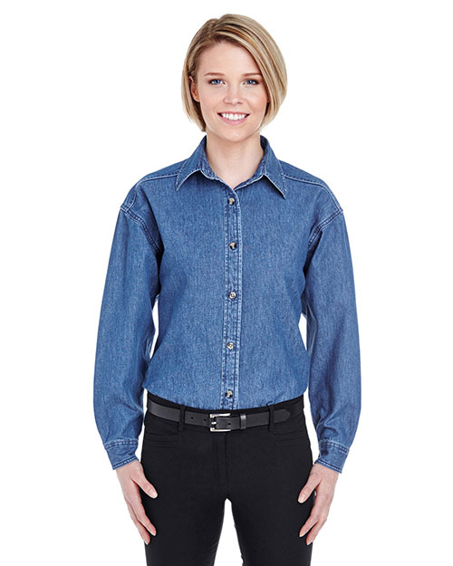 UltraClub 8966 Women Cypress Denim Indigo at GotApparel