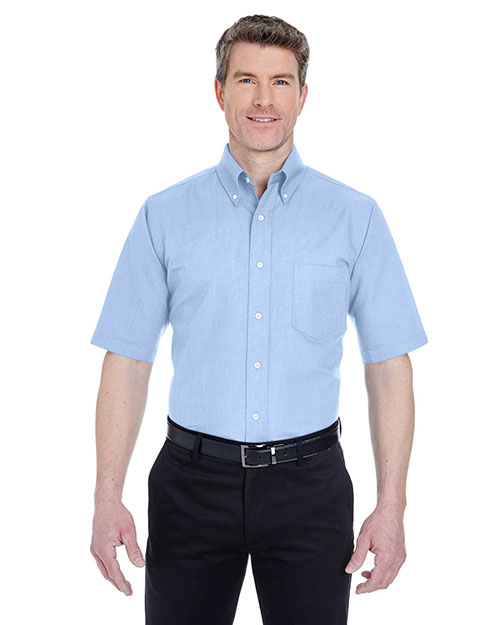 UltraClub 8972 Men Classic WrinkleFree ShortSleeve Oxford Light Blue at GotApparel