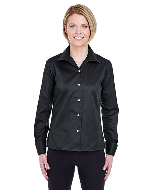 UltraClub 8992 Women Whisper Elite Twill Black at GotApparel