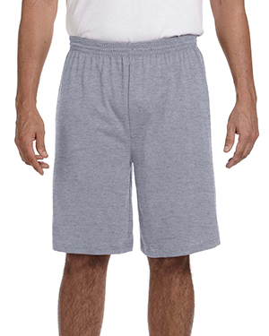 Augusta Sportswear 915 Men's 50/50 Jersey Shorts Athletic Heather at GotApparel