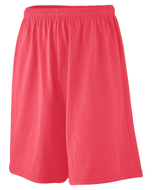 Augusta 916 Boys Longer Length Jersey Short Red at GotApparel