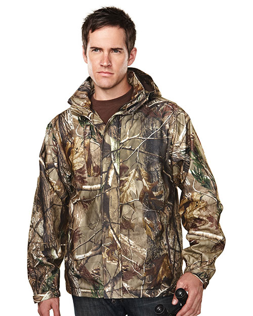 Tri-Mountain 9486C Men Reticle Camo Waterproof Breathable Soft Jacket at GotApparel