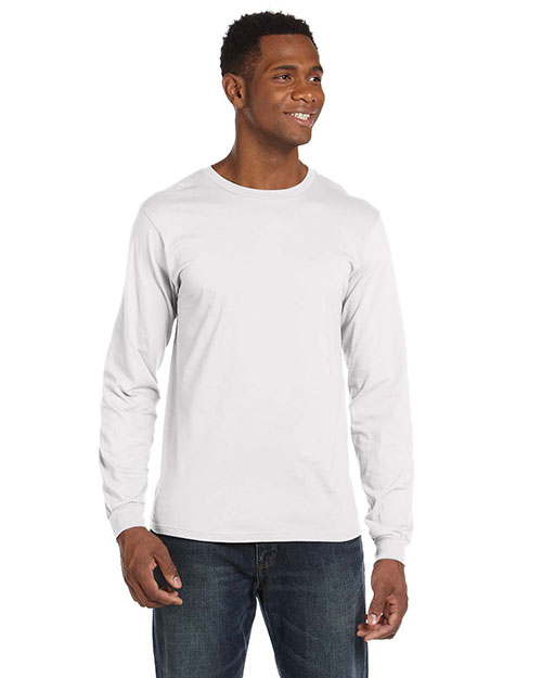 Anvil 949 Men Lightweight LongSleeve TShirt White at GotApparel