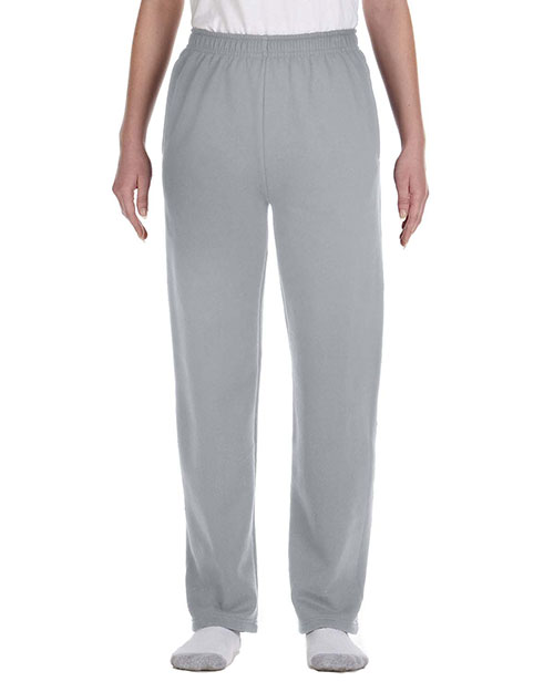 Jerzees 974Y Boys 8 oz., 50/50 NuBlend Open-Bottom Sweatpants Oxford at GotApparel