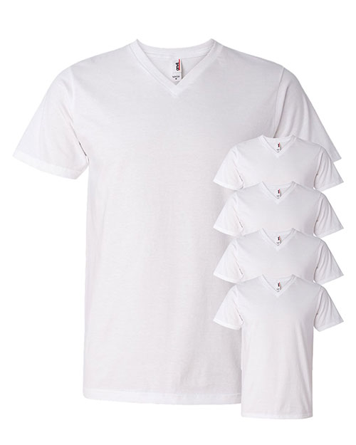 Anvil 982 Men Lightweight V-Neck T-Shirt 5-Pack at GotApparel