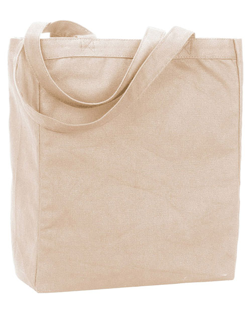 UltraClub 9861  Unisex Recycled Cotton Canvas Tote With Gusset Natural at GotApparel