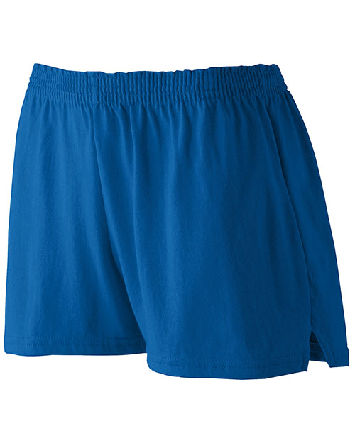 Augusta 987 Women Trim Fit Jersery Short Royal at GotApparel
