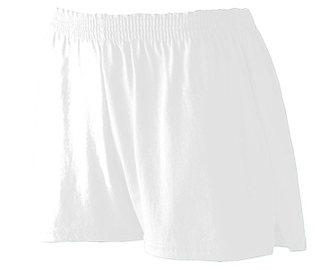 Augusta 988 Girl's Trim Fit Jersey Short White at GotApparel