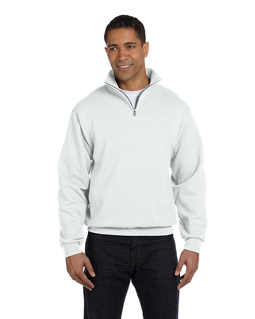 Jerzees 995M Men 8 oz., 50/50 NuBlend QuarterZip Cadet Collar Sweatshirt at GotApparel