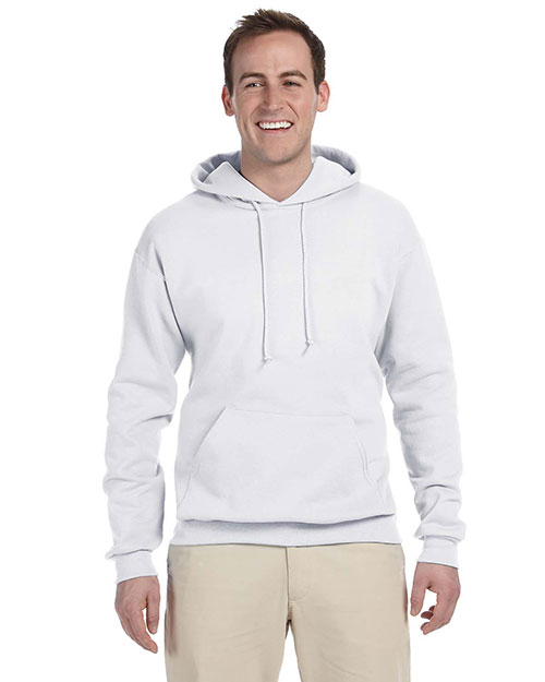 Jerzees 996MT Men Tall 8 oz., 50/50 NuBlend Fleece Pullover Hood White at GotApparel