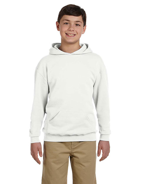 Jerzees 996Y Boys 8 oz., 50/50 NuBlend Fleece Pullover Hood White at GotApparel