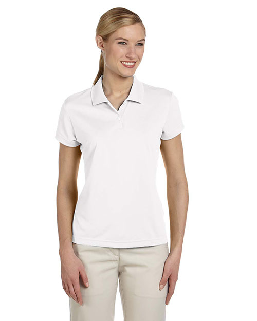 Adidas A122 Women climalite ShortSleeve Pique Polo White/Black at GotApparel