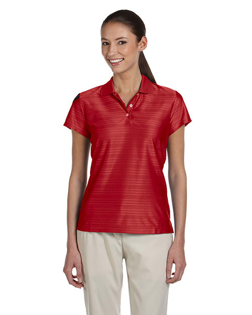Adidas A135 Women's climacool® Mesh Polo University Red/Black at GotApparel
