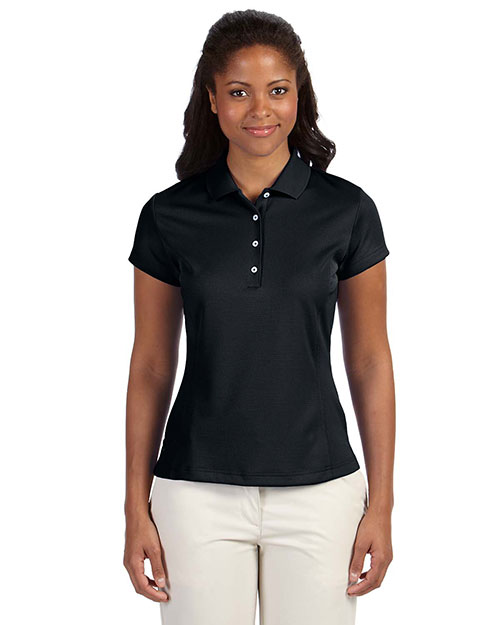 Adidas A171 Women climalite Solid Polo Black at GotApparel