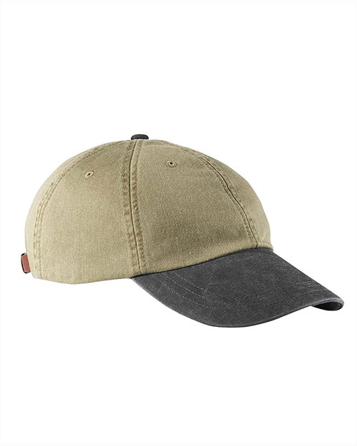 Adams LP102 Unisex 2-Tone Khaki Optimum Cap Khaki/ Black at GotApparel