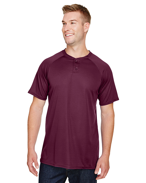Augusta AG1565 Adult Attain 2-Button Baseball Jersey at GotApparel
