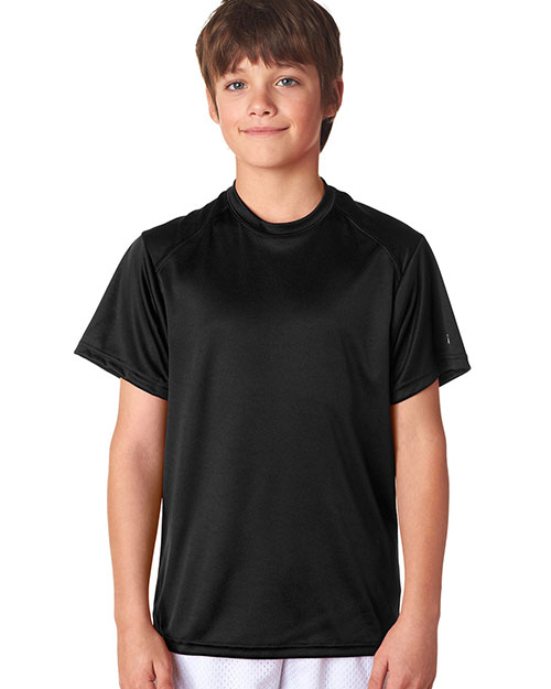Badger 2120 Boys BCore short sleeve Performance Tee Black at GotApparel