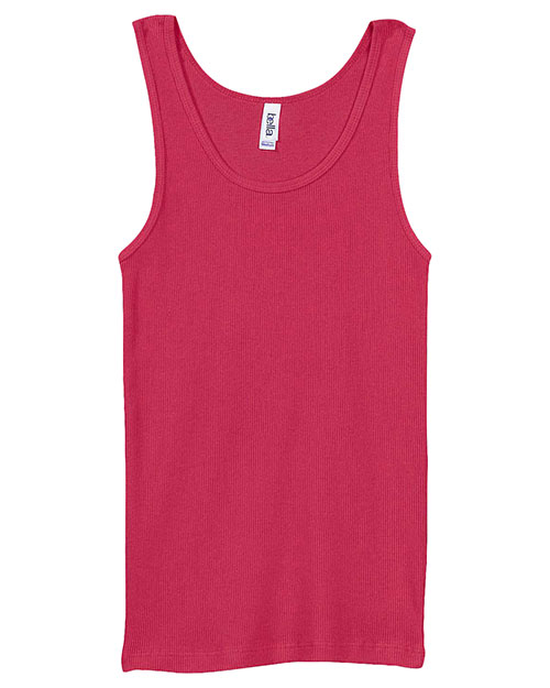 Bella + Canvas 4000 Women 2x1 Rib Tank Raspberry at GotApparel