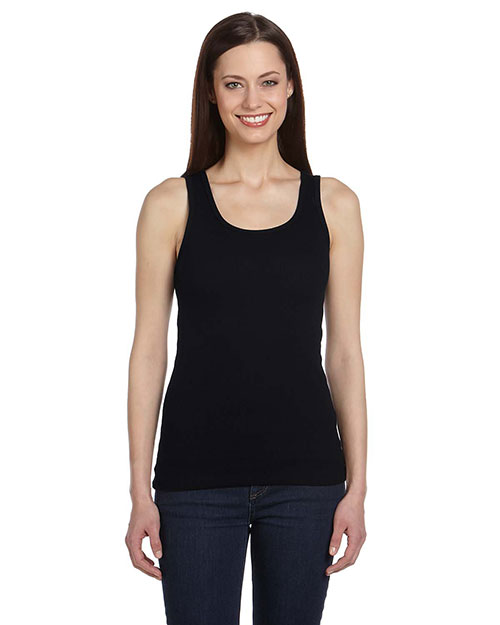 Bella + Canvas B4020 Women Organic 2x1 Rib Tank Black at GotApparel