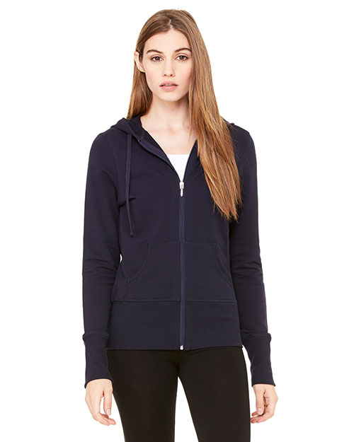 Bella + Canvas B7207 Women Stretch French Terry Lounge Jacket Midnight at GotApparel