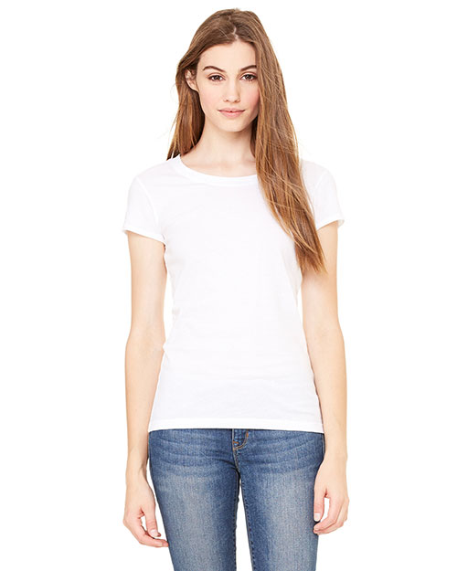 Bella + Canvas B8101 Women Sheer Jersey ShortSleeve TShirt White at GotApparel