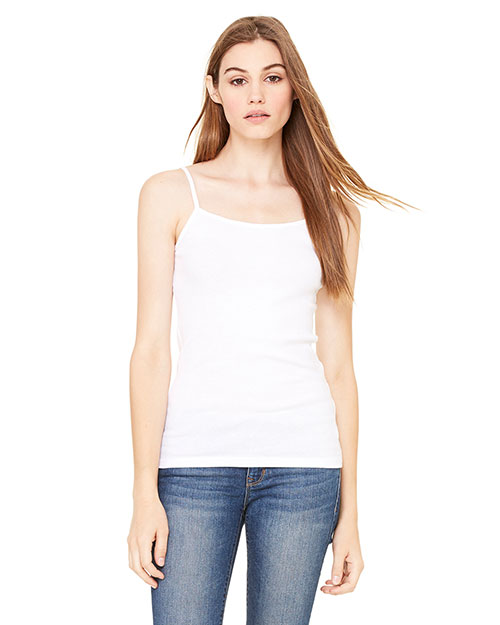 Bella B8111  Ladies Longer Length Tank WHITE at GotApparel